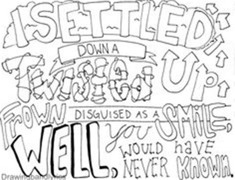 coloring book lyrics i draw band lyrics coloring pages inspirational