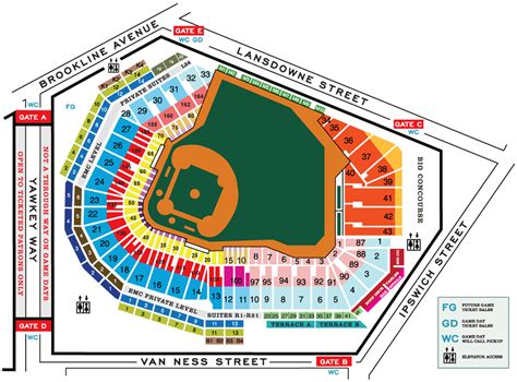 seating chart fenway park baseball images