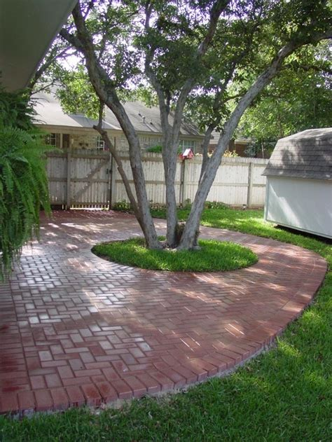 patio pavers around trees patio around tree tub