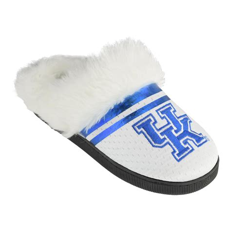 college slippers ncaa s of kentucky wildcats white blue