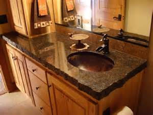 Granite Vanity Top With Copper Sink Our Sinks
