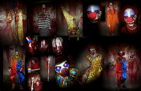 clown room evil clowns creepy collection haunted house invitations ideas