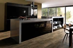 amazing Black Gloss Kitchen Ideas #1: Ultragloss-Black-Kitchen.jpg