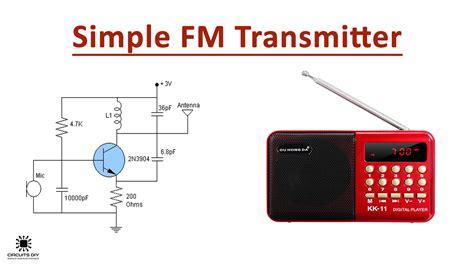 simple fm transmitter circuit   transistor