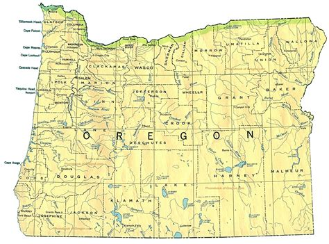oregon usa map oregon usa