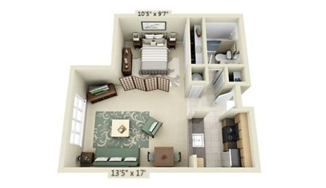 efficient studio layout studio apartment floor plans