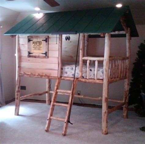 Bunk Beds Accessories Tree House Log Cabin Custom Made Wooden Bunk Bed Cool Pinterest Wooden Bunk Beds Bunk