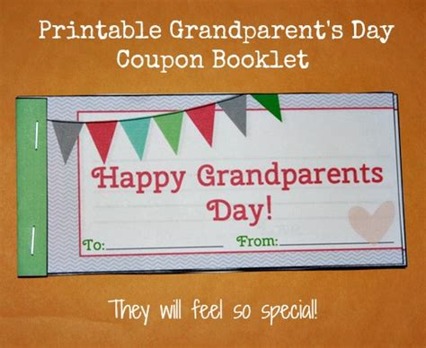 Handmade Coupons - grandparents day gift idea printable
