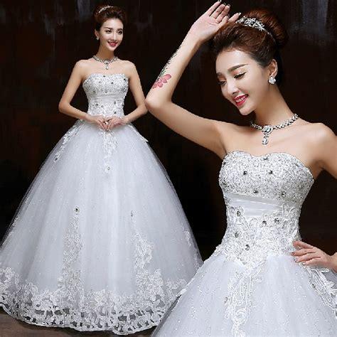 harga wedding dress gaun pengantin tali lebar korea 2015 id priceaz
