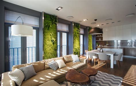sustainable apartment design vertical garden walls add life to apartment interior