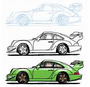 My Step By Drawing Of A RWB Porsche 964  Autos