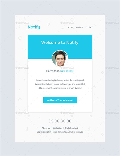 notify notification email template psd by