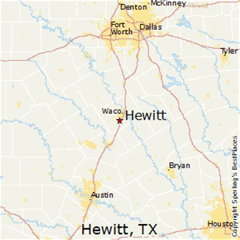 best places to live in hewitt texas