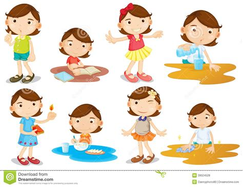 140952891x activites pour les filles de jeune les activit 233 s quotidiennes fille illustration