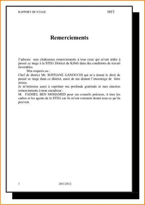 Exemple De Lettre De Remerciement Pour Un Voyage 12 Exemple Remerciement Rapport De Stage Faireune Lettre