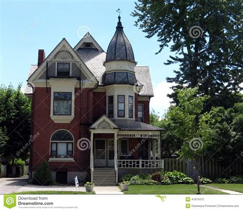 Victorian Queen Anne House Plans by Victorian Home With Turret Stock Photo Image 41815473