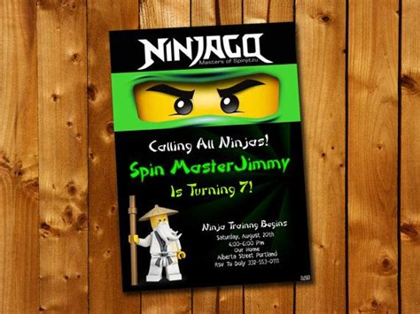 Ninjago Birthday Card Template by 81 Best Birthday Invitation Card Images On