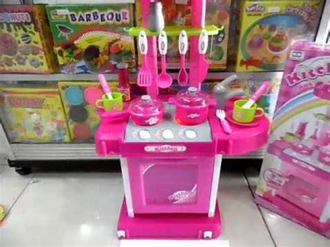 mainan masak masakan kitchen set koper pink