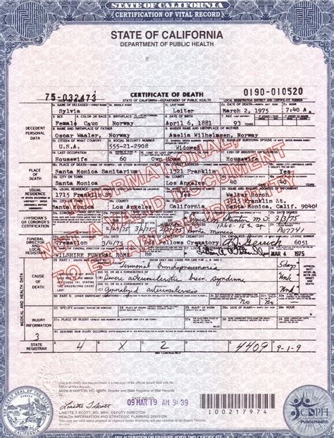 Birth Records California File Certificate Sylvia Of Jpg
