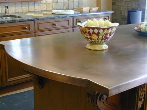 kitchen island worktop copper countertops hoods sinks ranges panels by brooks