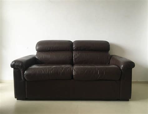 bjs couch finnish leather two seat sofa by oy bj dahlqvist ab for bd