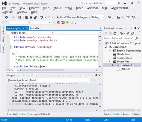 tutorial linux kernel module importing a linux kernel module project into visualkernel