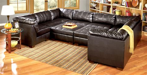 leather pit sectional modular pit group sofa sick home improvements