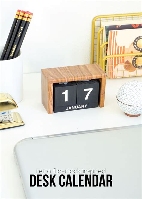 how to make desk calendar flip clock inspired desk calendar