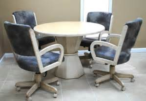 Kitchen Table Chairs With Wheels Kitchen Table And Chairs With Wheels Marceladick