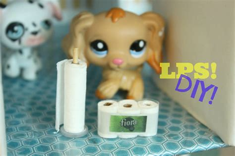 How To Make Lps Stuff Out Of Paper - diy lps how to make miniature toilet paper and paper towel