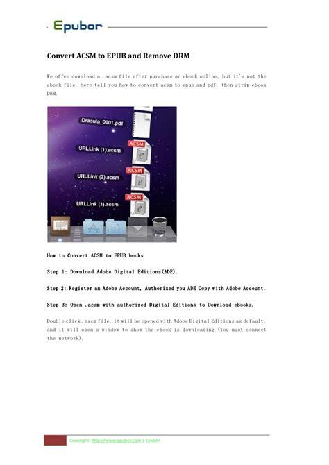 ebook format adobe convert acsm to pdf mac