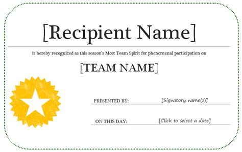 word award template certificates templates save word templates