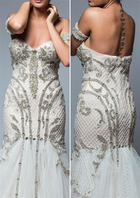 design dress with beads crystal beaded floral net designer wedding dress style