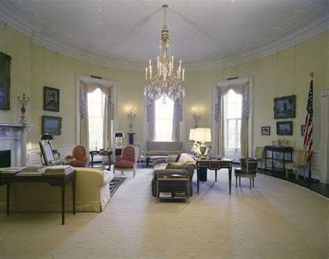 white house rooms state dining room cross hall east room  floor stair landing yellow