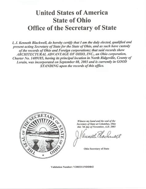 Certificate Of Letter Of Standing References For Architectural And Larry
