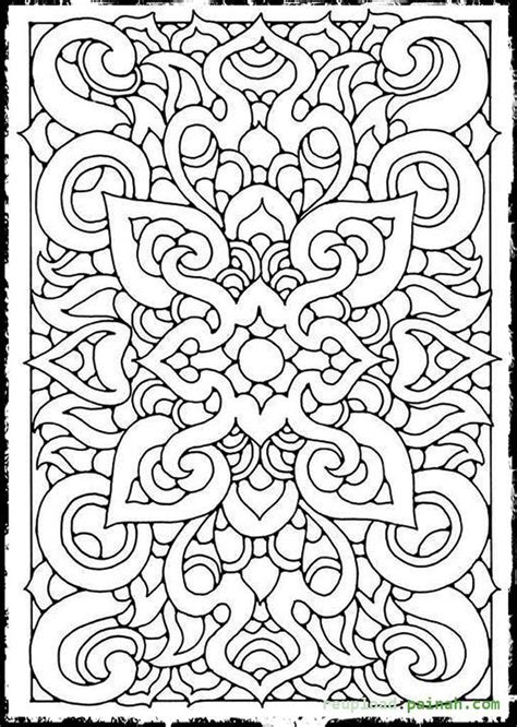 coloring pages of cool patterns cool coloring pages for teenagers coloring home