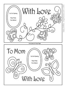 mothers day coloring card template printable s day cards s day cards to color