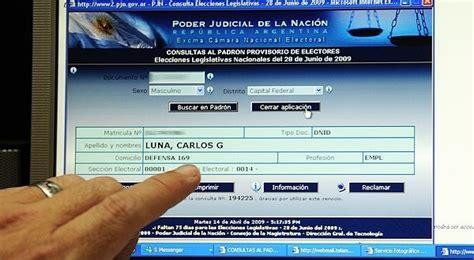 elecciones 2015 donde voto donde voto consultar el padron electoral elecciones