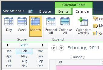 how do i make my calendar when i use calendars overlay how do i make exchange click