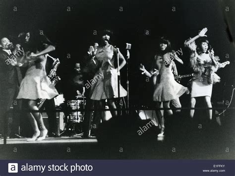the ikettes tina turner with the ikettes about 1972 stock photo