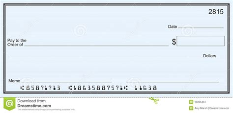7 best images of printable personal blank check template