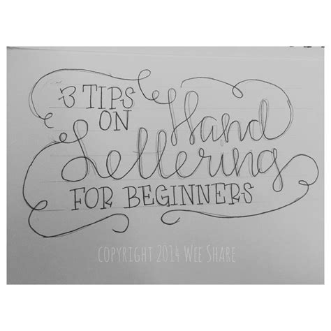 hand lettering tutorial worksheet tip 1 use a pencil 3 tips on hand lettering for