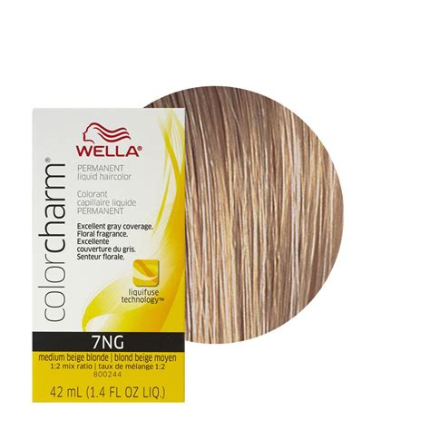 wella hair color reviews wella color charm liquid creme hair color 7ng medium