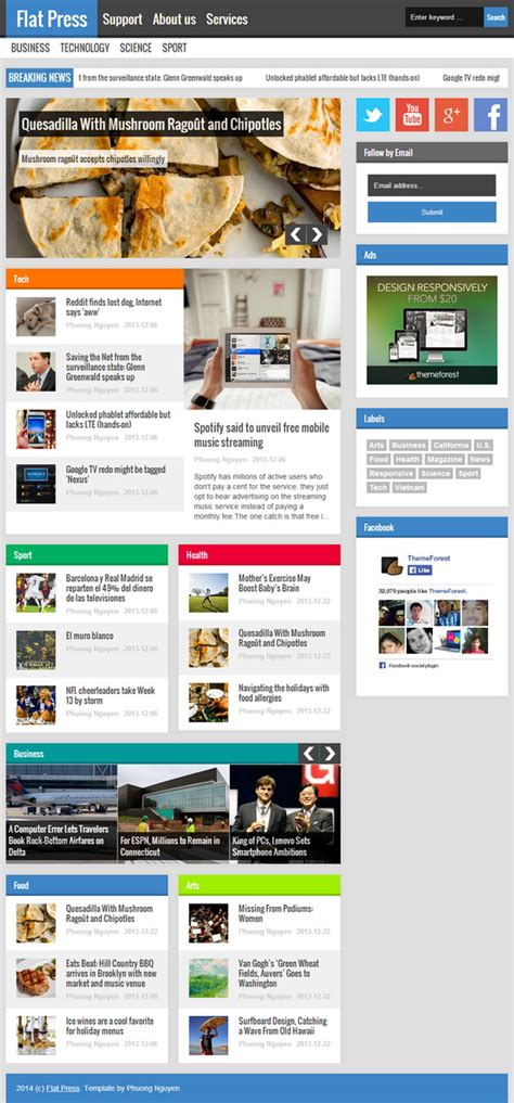 blogger themes for news flat press blogger template blogger templates 2018