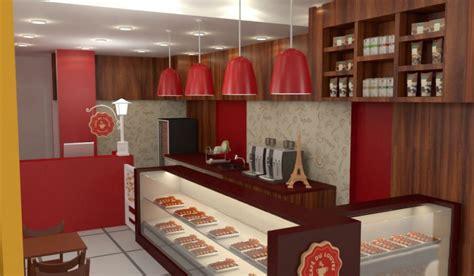 Layout Divisi Produksi Restoran | desain kios makanan cepat saji restaurant dekorasi