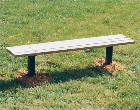 modern park benches 6 inground mount park bench without back and pressure