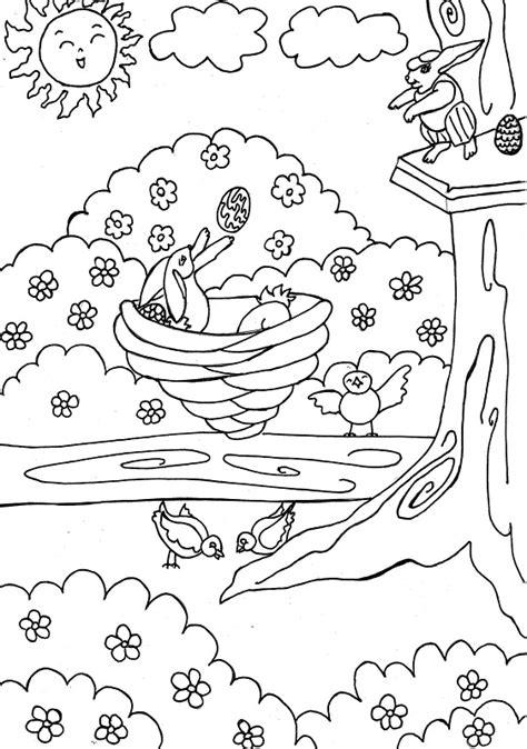 imagenes para colorear primavera primavera dibujos para colorear