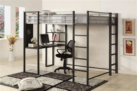 full size loft bed full size bed sherman metal loft bed silver gun metal