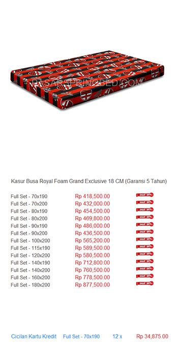 Kasur Busa Big Foam No 3 kasur busa royal foam harga bed termurah di indonesia