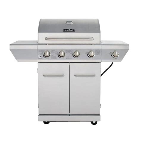 nexgrill 4 burner propane gas grill in stainless steel